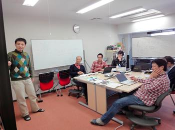 電子科学研究所 計算論的生命科学研究分野【李研究員による発表の様子】